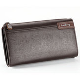 PU Leather Business Casual Zíper Clutch Bolsa