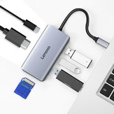 Lenovo LX0806G Multifunctional Type-C Hub Docking Station Adapter with 3* USB 3.0 / 4K HDMI / PD Fast Charging / SD / TF Card Reader for MacBook Pro