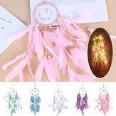 Feather Dream Catcher With Light Hanging Home Decor Night Light Bedroom Gift