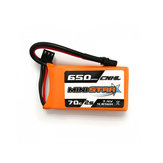 CNHL MiniStar 650mAh 7.4V 2S 70C Lipo Battery XT30U Plug for RC Drone FPV Racing