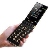 TKEXUNM2Plus3GWCDMANetzwerk Flip Telefon 5800mAh 3.0 Zoll Dual Touchscreen Blutooth FM Dual SIM Karte Flip Feature Telefon