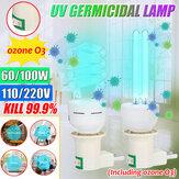 60W 100W 254NM LED UVC-maïslamp E27 UV-kiemdodende lamp Home Sterilisatie Desinfectielicht AC110V / 220V