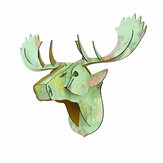 3D Puzzle Model Creative European Wooden Animal Deer Head Home Decoration Accessories Christmas Wall Hanging Crafts