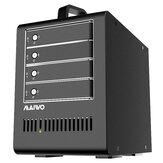 MAIVO HDD SSD Docking Station Boîtier de disque dur 5 baies Clone de configuration RAID pour disque SSD SATA 2,5 `` 3,5 ''
