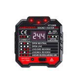 2 pcs HT106B Socket Outlet Tester Dinding Sirkuit Polaritas Tegangan Detector UK + EU Plug Breaker Finder Uji RCD