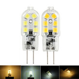 Dimmable G4 2W SMD2835 Warm White Pure White 12 LED Light Bulb DC12V