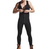 Mænd Bomuld Brevtryk Ensfarvet ærmeløs Jumpsuit i fuld længde Afslappet hjemmebaner Nattøj
