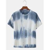 Мужские футболки с цветочным принтом Summer Breathable Loose O-Neck