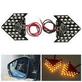 2 x 27 3528 SMD LED Sequential Flash Side Rear View Mirror Turn Signal Light