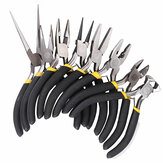 DANIU 8Pcs Round Beading Nose Pliers Wire Side Cutters Pliers Tools Set