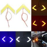 Çifti 18SMD LED COB Ok Panel for Araba Arka Görünüş Ayna İndikatörü Sinyal Lambaları Dönüşü