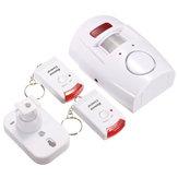 2 em 1 de movimento sem fio do alarme de segurança de infravermelho alarme sonoro detector casa com controle remoto + titular