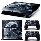 Skull Skin Style Sticker For PS4 Play Station 4 Console 2 Controllers Vinyl Decal