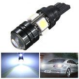 T10 سيارة ليد مصباح السيارات 5W-12V لمبات ضوء مع عدسة ثنائية البؤرة الضوء الأبيض