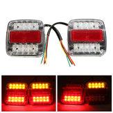 12v LED caravana de remolque de camión dejar de cola trasera luz indicadora de placa de matrícula