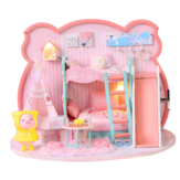 Iie Create P-003 Pig Girl DIY Assembled Doll House With Dust Cover With Furniture Indoor Toys