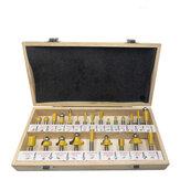 Drillpro 24 pièces 8mm tige bricolage bois routeur bits ensemble fraise pour bois affleurant droit chanfrein coupe outil de gravure