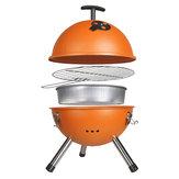 Al aire libre parrilla de barbacoa portátil de carbón de barbacoa redonda horno estufa de picnic