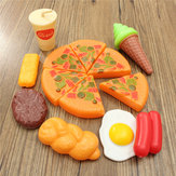 13PCS Plastic Pizza Cola Ice Cream Cutting Play SetChildren Kids Prefere o presente do brinquedo de papel
