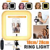 D21 D35 Square LED Ring ضوء Live Beauty Selfie ضوءs هاتف Holder USB Plug for Youtube Tiktok Vlog Makeup