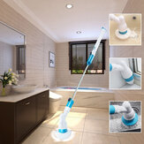 Rechargeable Bathtub Tiles Power Floor Cleaner Brush Cordless Handle Telescopic Cleaning Mops Tools With 3 Replaceable Brush Heads