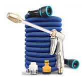 High Pressure Car Wash Water Pipe Spray Garden Hose 3 Times Expandable Flexible Telescopic Plastic Hoses Pipe Household Cleaning