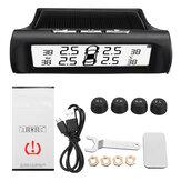 Système d'alarme de température de surveillance de la pression des pneus de charge USB sans fil de voiture solaire
