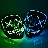 Halloween LED Masque Purge Masques Élection Mascara Costume DJ Party Light Up Masques Glow In Dark 10 couleurs à choisir