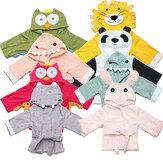 Bebê pijamas nighty crianças criança animais roupão desenhos animados toalha