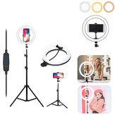LED anneau lumière Studio remplissage lumière dimmable lampe trépied support téléphone Clip pour Photo maquillage en direct Youtube Tiktok diffusion en continu