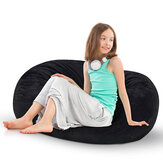 Nesloth 39'' Bean Bag Suede Lazy Couch Chair Sofa Sponge Filled Seat Adult Kids