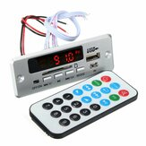 DC 12V/5V MP3 Decode Board LED USB AUX FM bluetooth Radio Amplifier With Remote