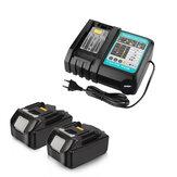 2 pièces 18 V 4A remplacement Batterie Li-Ion Batterie outil électrique Batterie pour Makita BL1880 BL1860B avec chargeur 3A