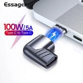 Adaptador conversor magnético USB-C Essager 100W Type-C macho para fêmea Conector para Mackbook Pro Huawei P40 Mate 40 Pro