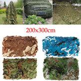 2x3m Woodlands Leaves Jungle Tarnnetze Tarnnetz Hide für Camping Militär Jagd