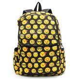 Sacchetti di scuola degli studenti di borse di libri di tela dolce ragazze zaino carino fumetto Emoji