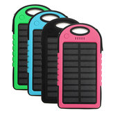 Portable 4000mAh Solar Powered System LED USB Battery Charger Box Case for Camping Outdoor