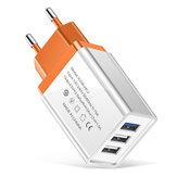 Adattatore di alimentazione per caricabatterie da viaggio 5V 2A 3 USB Smartphone Tablet PC