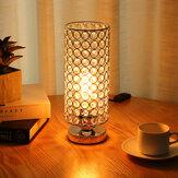 モダンなデザインのテーブルランプクリスタル調光器ラウンジベッドサイドテーブルライトホームE27/E26