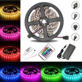 5M 60W SMD5050 Non-waterproof RGB LED Strip Light + WiFi Controller + Remote Control + Adapter DC12V Christmas Decorations Clearance Christmas Lights