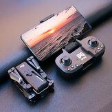 WLRC KK1 Mini WiFi FPV avec double caméra 4K HD 50x ZOOM Mode de maintien d'altitude Drone RC pliable Quadricoptère RTF