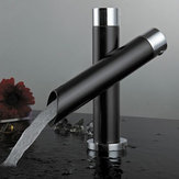 Modern Unique Bathroom Bateria umywalkowa Pojedynczy uchwyt Kitchen Sink Mixer Tap Waterfall Faucet Black