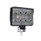 4 pouces 9V-30V 12V 24V 2400lm 24W LED Lampe de travail tout-terrain Projecteur 6000K Projecteur carré blanc pour moto voiture camion bateau Bar