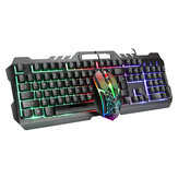 LIMEIDI T21 Wired Mechanical Keyboard & Mouse Set 104 Keys RGB Backlight Gaming Keyboard with Phone Holder 1600dpi Mouse