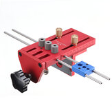 X700 3 in 1 Aluminum Alloy Dowelling Jig with Clamping System Set Wood Dowel Drilling Position Jig Woodworking Tool