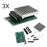 3Pcs MAX7219 Dot Matrix Module DIY Kit SCM Control Module For