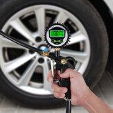 LCD Digital Car Air Tire Tyre Inflator Compressor Dual Chuck Pressure Hose Gauge