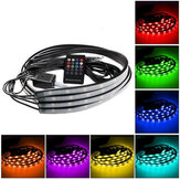 4PCS RGB onder Auto LEIDENE Decoratielichten Strip Sound Music Active Underglow with Wireless Control