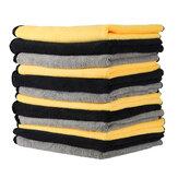 MATCC 12 Uds toallas súper absorbentes paños de limpieza de microfibra Coche Professiona Cochee lavable multiusos