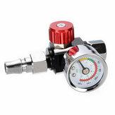 1/4'' Mini Air Regulator Valve Pressure Gauge Trap Adjustable w/Nozzle